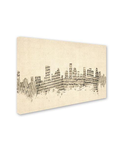 Home Decor Stores Houston Tx: Trademark Global Michael Tompsett 'Houston Texas Skyline