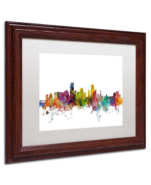 Macys Furniture Outlet Miami: Trademark Global Michael Tompsett 'Miami Florida Skyline