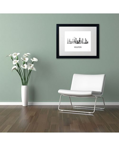Home Decor Stores Houston Tx: Trademark Global Marlene Watson 'Houston Texas Skyline WB