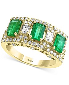 EFFY® Emerald (1-5/8 ct. t.w.) & Diamond (3/4 ct. t.w.) Ring in 14k Gold