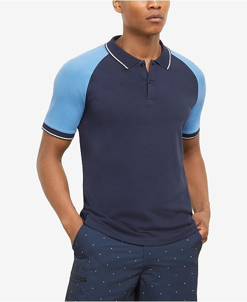 Kenneth Cole Men's Colorblocked Polo