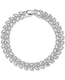 Giani Bernini Cubic Zirconia Marquise All-Around Bracelet in Sterling Silver, Created for Macy's