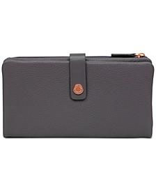 Larks Wood Large Tab Leather Wallet