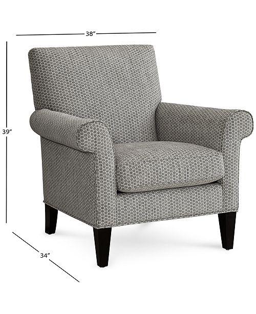 Surprising Kesgrave 29 Fabric Roll Arm Chair Created For Macys Short Links Chair Design For Home Short Linksinfo