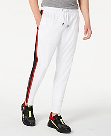INC Men's Regular-Fit Joggers with Faux-Leather Piecing, Created for Macy's