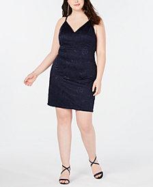 Emerald Sundae Trendy Plus Size Lace Racerback Bodycon Dress