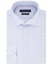 Men's Classic/Regular-Fit THFlex Stretch Non-Iron Floral-Print Dress Shirt