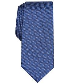 Men's Slim Geometric Grid Tie, Created for Macy's