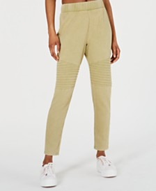 Material Girl Juniors' French Terry Moto Leggings, Created for Macy's