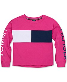Big Girls Colorblocked Logo Sweatshirt