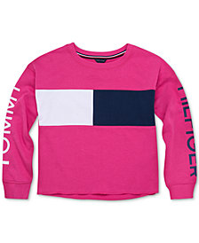 Tommy Hilfiger Big Girls Colorblocked Logo Sweatshirt