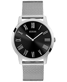GUESS Men's Stainless Steel Mesh Bracelet Watch 44mm