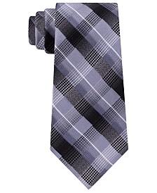 Van Heusen Men's Bruce Classic Plaid Silk Tie