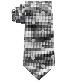Sean John Men's Checkered Textured Dot Silk Tie