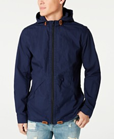 Lucky Brand Men's Hooded Windbreaker
