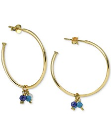 Argento Vivo Shaky Bead Hoop Earrings in Gold-Plated Sterling Silver