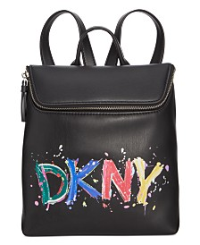 DKNY Tilly Logo Paint Backpack, Created for Macy's