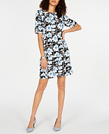 Petite Floral-Print Sheath Dress, Created for Macy's