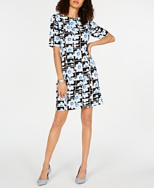 Alfani Floral-Print Sheath Dress, Created for Macy's