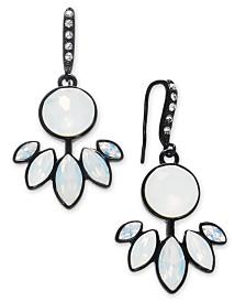 I.N.C. Jet-Tone Crystal Drop Earrings, Created for Macy's
