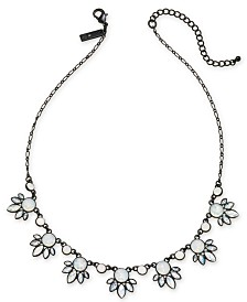 "I.N.C. Jet-Tone Crystal Statement Necklace, 17"" + 3"" extender, Created for Macy's"
