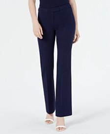 Anne Klein Twill Flare-Leg Pants