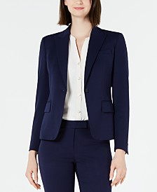 Anne Klein Peaked One-Button Blazer