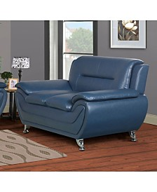 US Furnishings Express Elliot Collection Faux Leather Loveseat