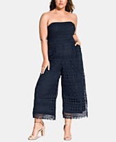 f5b952eb4 City Chic Trendy Plus Size Embroidered Lace Jumpsuit