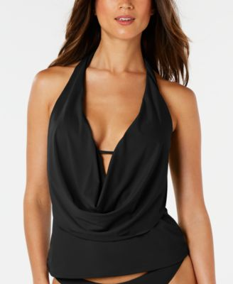 Sunset Solids Cowl-Neck Tankini Top, Created for Macy's