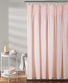 "Lydia Ruffle 72"" x 72"" Shower Curtain"