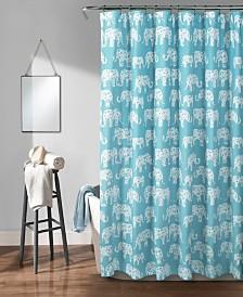"""Elephant Parade 72"""" x 72"""" Shower Curtain"""