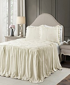 Ravello Pintuck Ruffle Skirt 3Pc King Bedspread Set