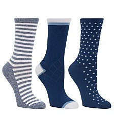 Cuddl Duds Women's 3pk Mid-Weight Crew Socks, Online Only