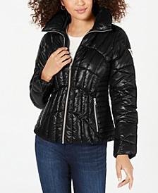 High-Shine Puffer Coat