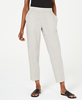 ded843c4b653ec Eileen Fisher Striped Tapered Pull-On Pants