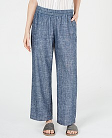 Organic Pull-On Straight-Leg Pants, Regular & Petite
