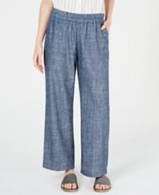 Eileen Fisher Organic Pull-On Straight-Leg Pants, Regular & Petite