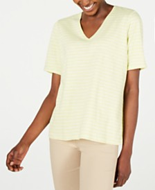 Eileen Fisher Striped Organic Cotton Top, Regular & Petite