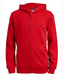 Big Boys Wilson Full-Zip Fleece Hoodie