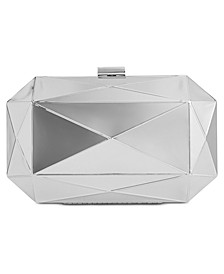 INC Silver Shiny Celeste Clutch, Created for Macy's