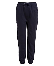 Nautica Little Boys Evan Tapered-Fit Stretch Joggers with Reinforced Knees