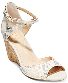Sadie Grand Open-Toe Wedge Sandals