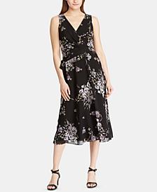 Floral-Print Georgette Midi Dress
