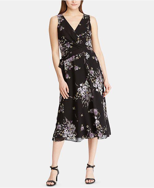 Lauren Ralph Lauren Floral-Print Georgette Midi Dress