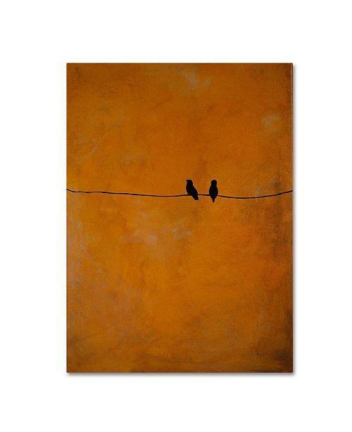 "Trademark Global Nicole Dietz 'Bird Pair Yellow' Canvas Art - 14"" x 19"""