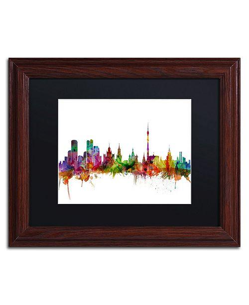 "Trademark Global Michael Tompsett 'Moscow Russia Skyline' Matted Framed Art - 11"" x 14"""