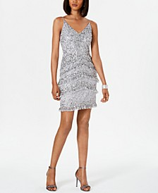 Bead Tiered Dress