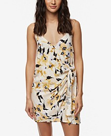 Juniors' Brandon Wrap-Front Dress