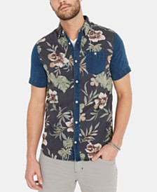 Buffalo David Bitton Men's Siuvon Regular-Fit Colorblocked Floral-Print Shirt
